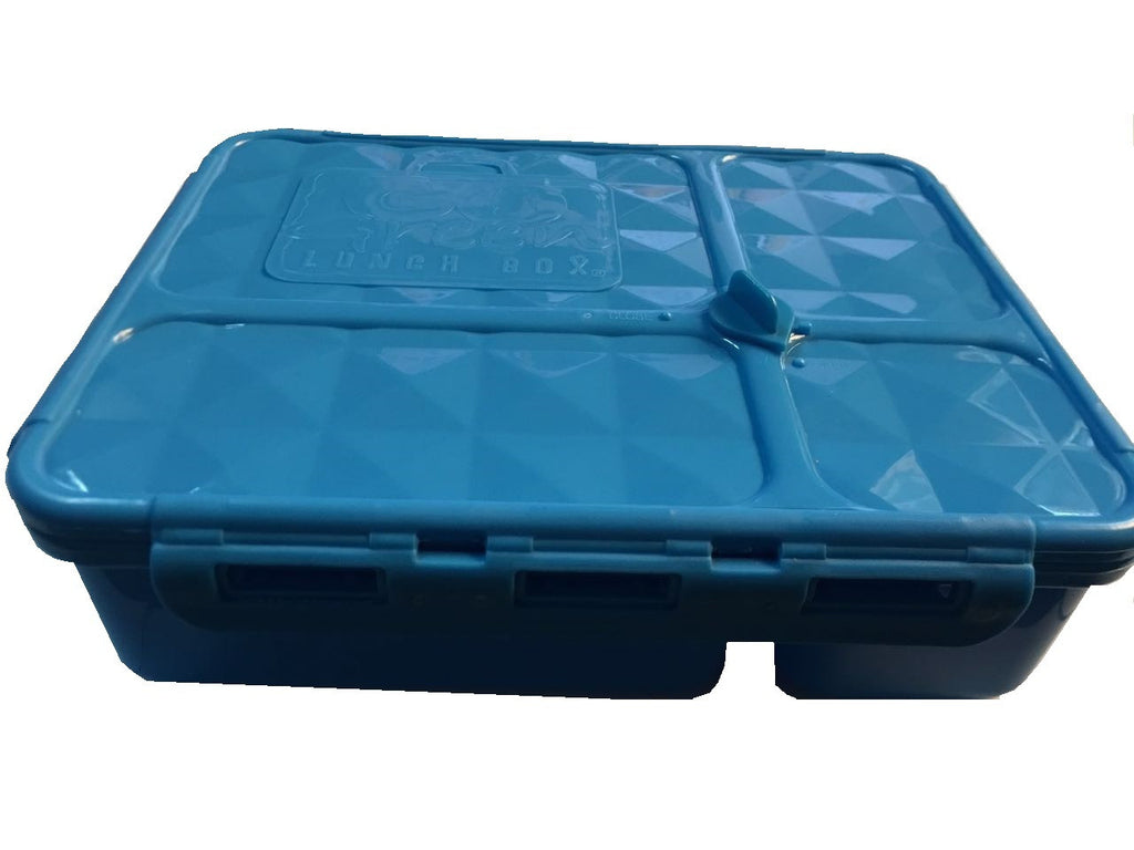 Go Green Medium Lunch Box ~BLUE