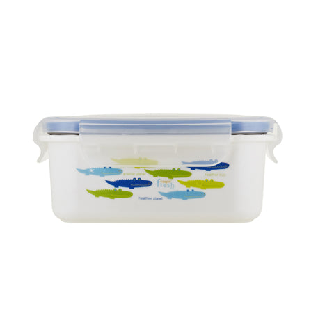 Keepin' Fresh double wall insulated stainless lunchbox - alligator / blue / 15 oz (450ml)