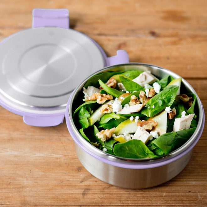 LunchBots Salad Bowl 4 cup ~ Lavender ~ Leak Proof