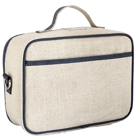 So Young Insulated lunch box - Grey Robot - Raw Linen