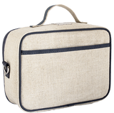 So Young Insulated lunch box - Grey Robot - Raw Linen ( NEW)