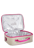 So Young Insulated lunch box Pink Fawn - Raw Linen ( NEW)