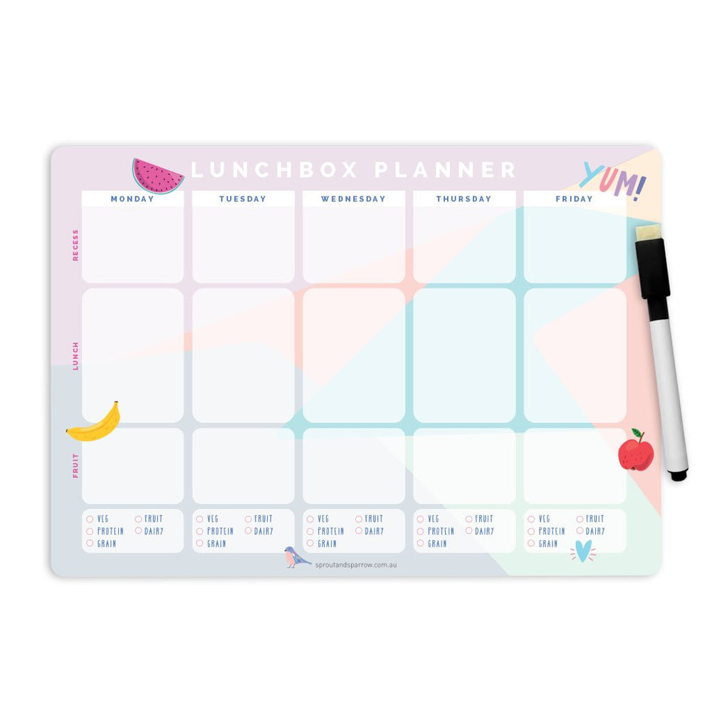 Write On Magnetic Lunchbox Planner ~ Sprout and Sparrow
