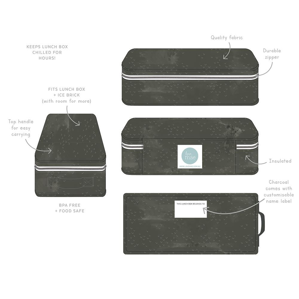 Love Mae Cooler Bag with Ice Brick ( Slate )