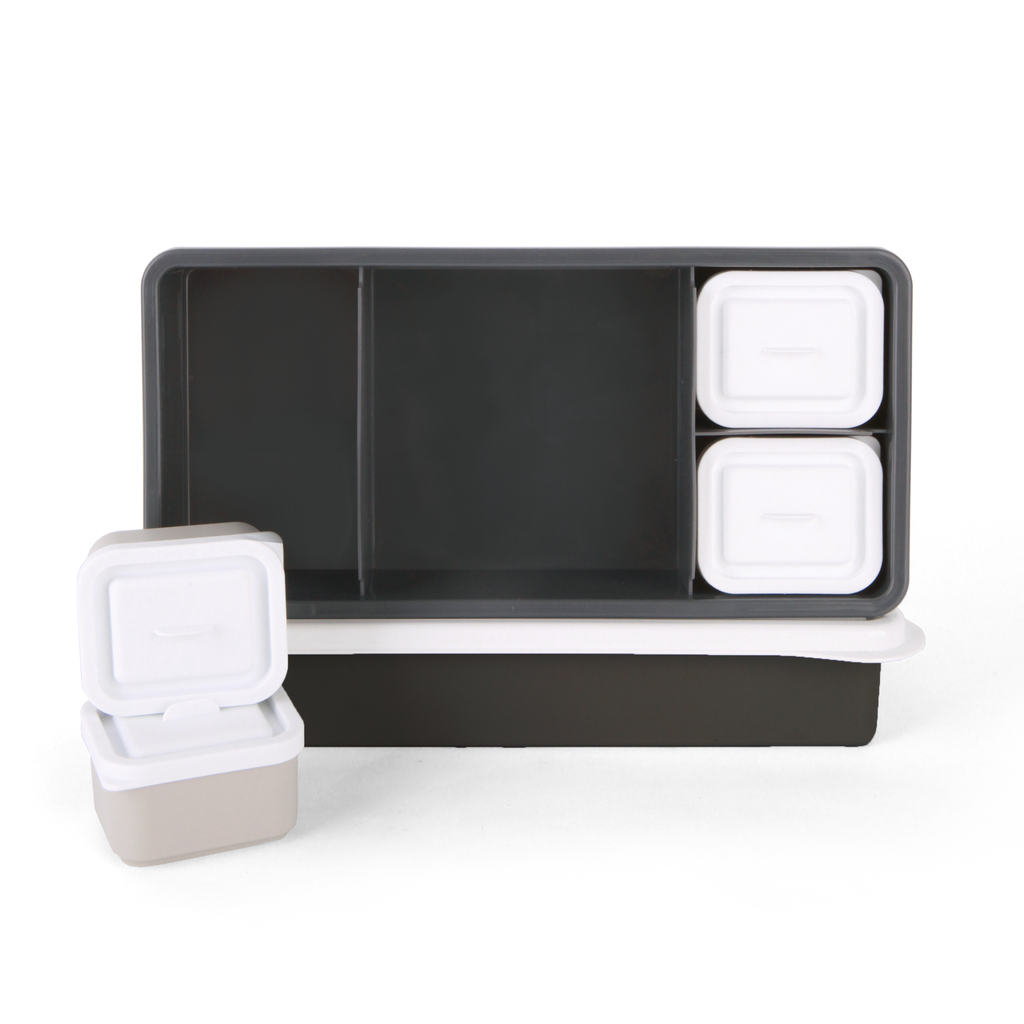 Love Mae Lunch Box Charcoal Base with White Lid  ( Pre-Order, ETA End of November)