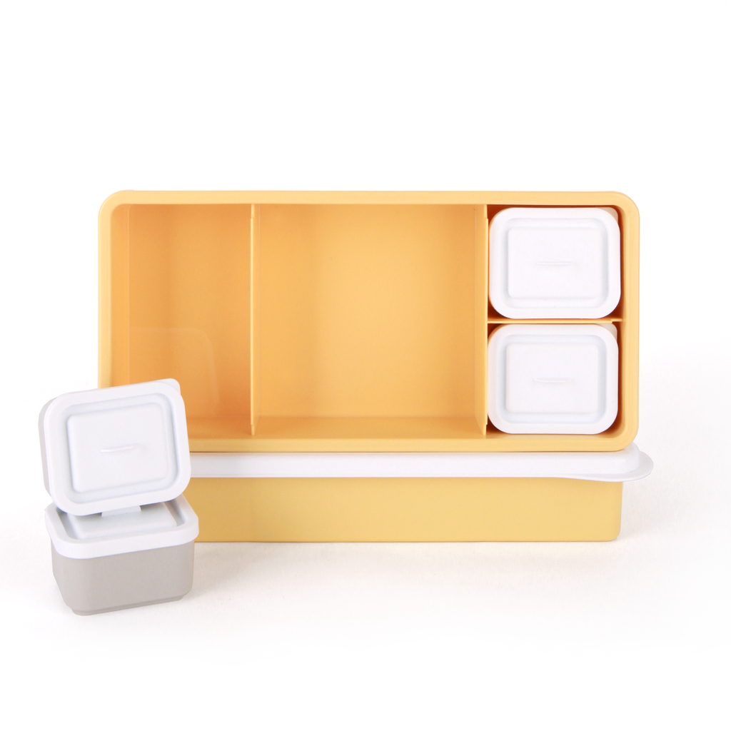 Love Mae Lunch Box Yellow Base with White Lid  ( Pre-Order, End of November)