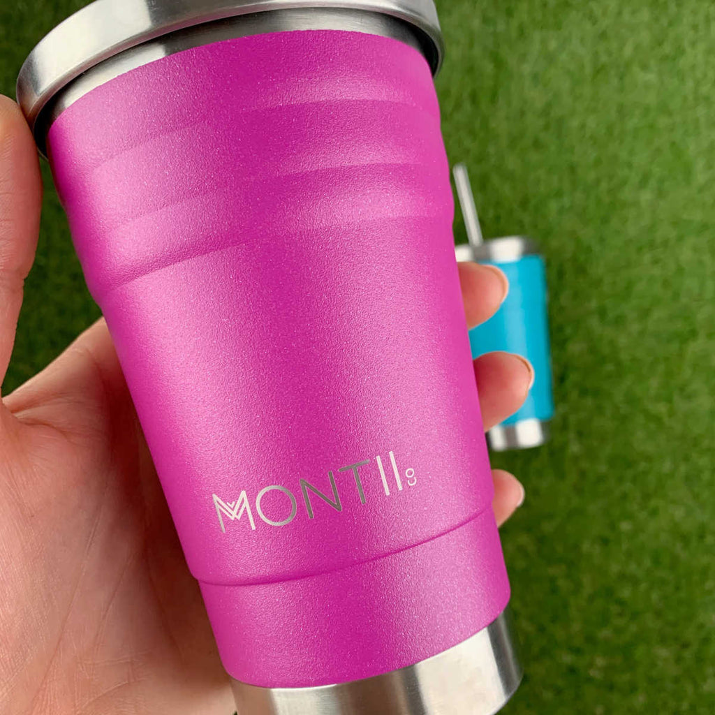 Montii MINI Smoothie Cup ~ Glitter Magenta ( NEW)