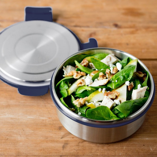 LunchBots Salad Bowl 4 cup ~ Navy ~ Leak Proof