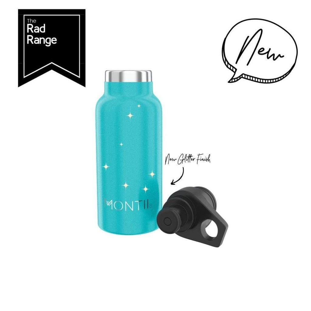 Mini Montii Aqua Glitter Insulated Bottle 350ml