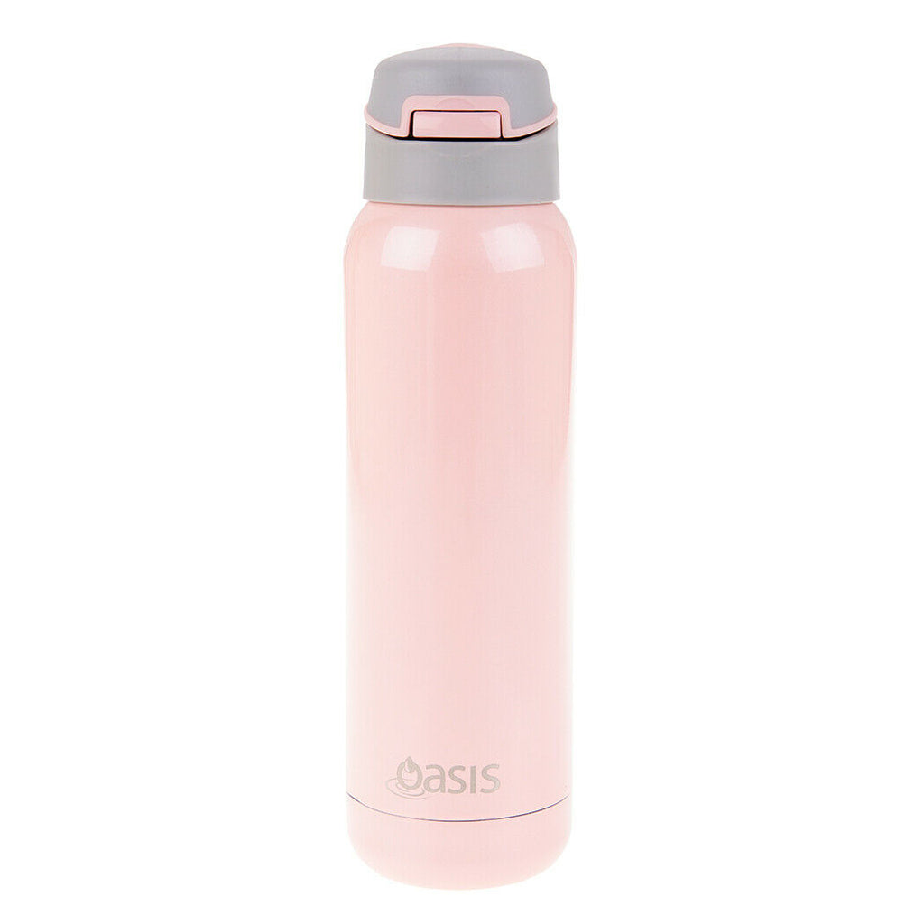 Sports Water Bottle Long Straw: Oasis Stainless Steel Insulated Sports Water Bottle 500ml