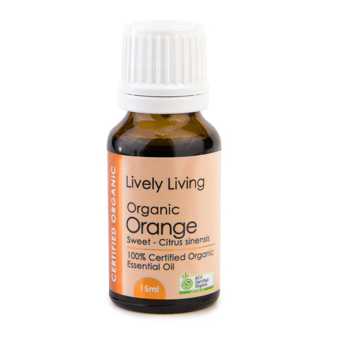 Lively Living-100% Certified Organic Essential Oil Blend - Orange 15ml