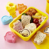 Four animal Friends Sandwich Cutter & Stamp Set