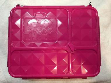 Go Green Medium Lunch Box ~ PINK