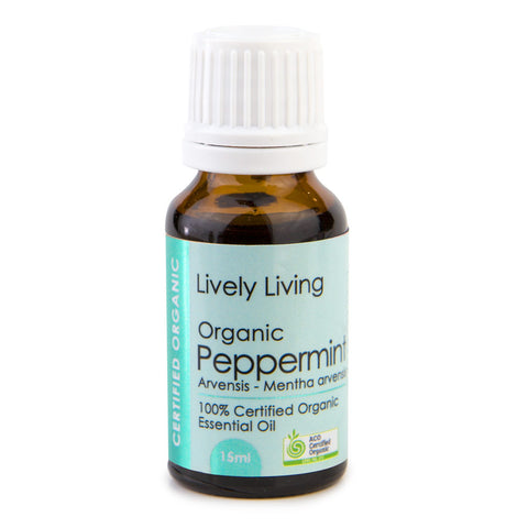 Lively Living-100% Certified Organic Essential Oil Blend - Pappermint 15 ml