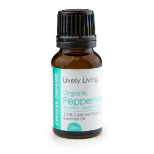 Lively Living-100% Certified Organic Essential Oil Blend - Pappermint 12ml