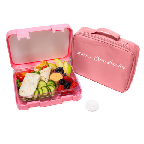 Lunch Buddies Pink- 4 compartments bento lunch box ( NEW )