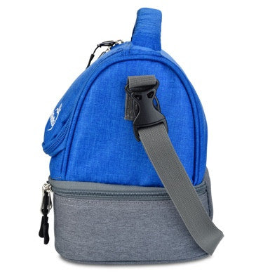 LunchBots Duplex Lunch Bag - Gray and Royal Blue ( NEW colour)