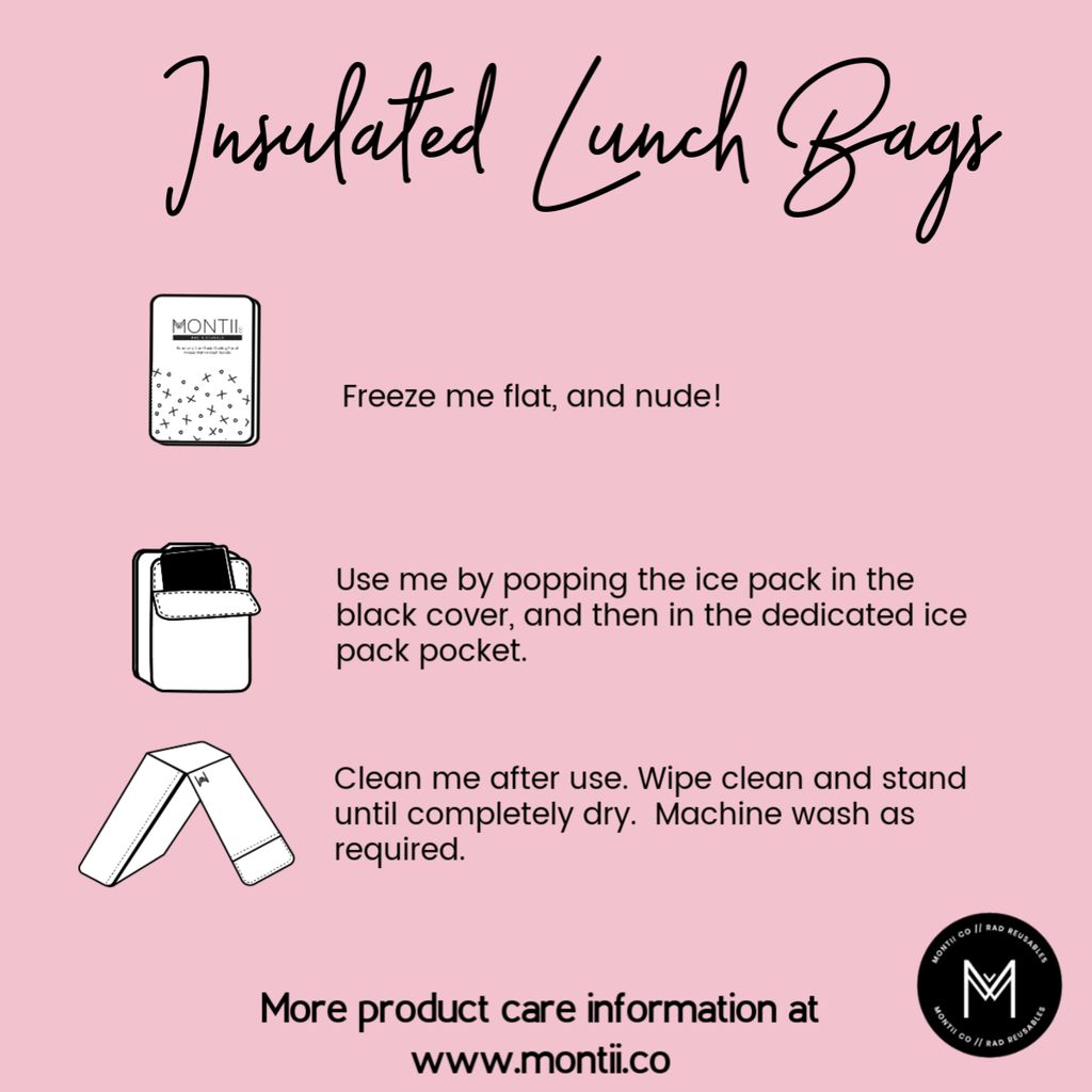 Montii Insulated lunch bag ~ Unicorn ( Pre-Order now, ETA Dec)