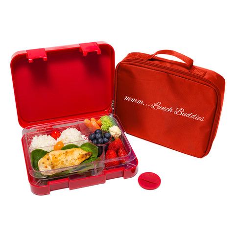Lunch Buddies Red - 5 compartments bento lunch box ( NEW )