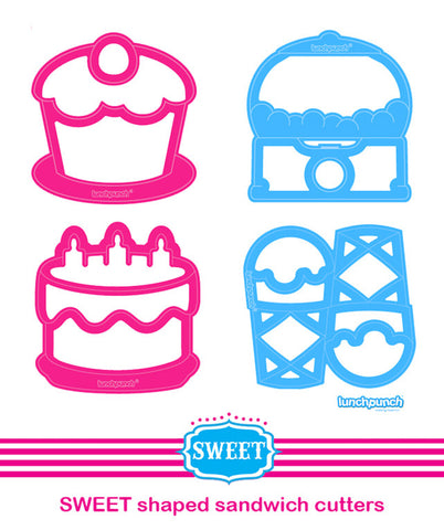 Lunch Punch Sweet Sandwich Cutter - 4 PACK