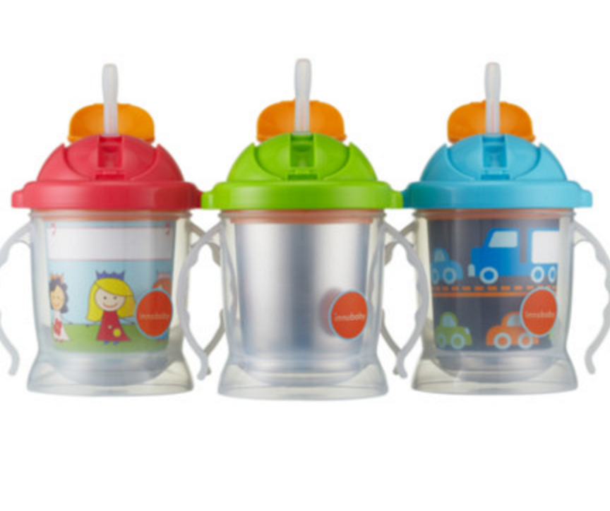 Ez flow Straw Sippy Stainless steel cup - 3 products IN 1- Sippin' Smart