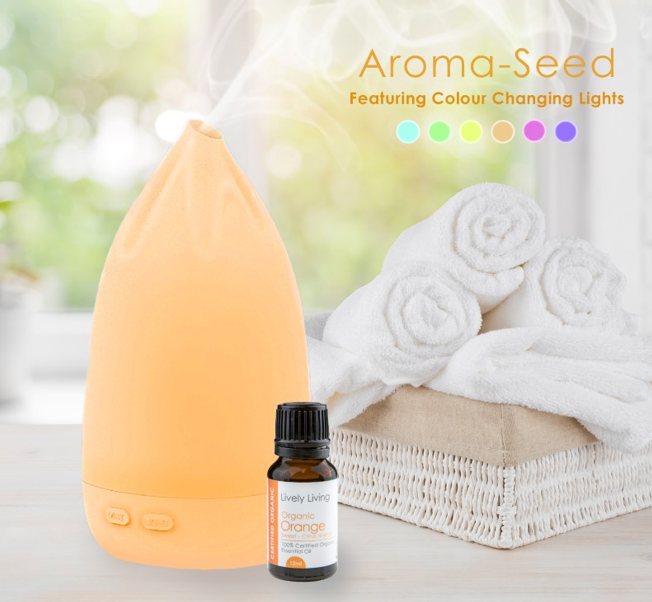 Aroma Seed ( Bonus 12 ml 100% Certified Organic Essential oil Orange)