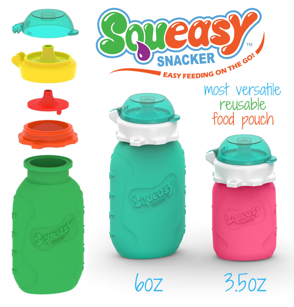 6 OZ GREEN SQUEASY SNACKER