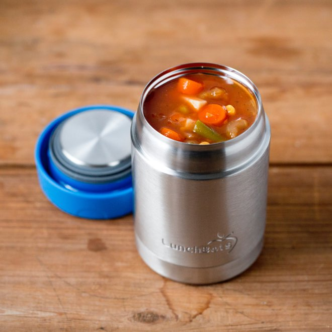 LunchBots Thermal Stainless Steel Insulated Food Jar - Royal- 12 oz. - 350ml