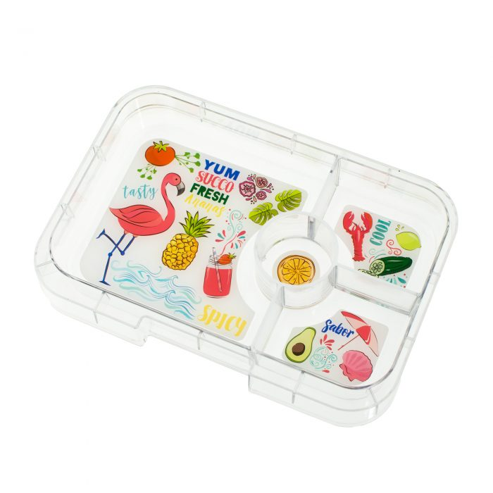 Yumbox Tapas (4-compartment) Flamingo Tray ( NEW )