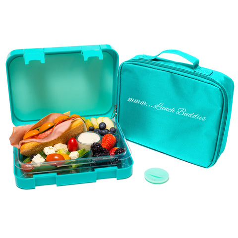 Lunch Buddies Turquoise - 4 compartments bento lunch box ( NEW )