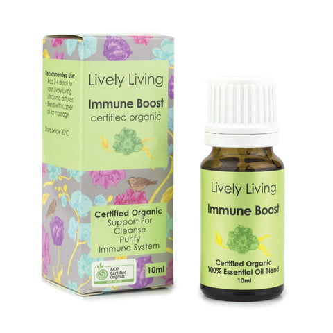 Lively Living-100% Certified Organic Essential Oil Blend - Immune Boost 10ml