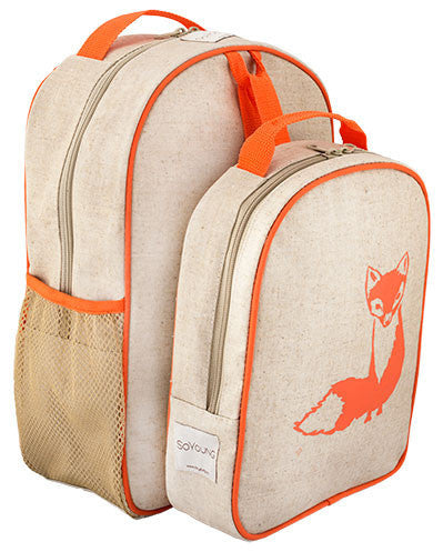 SoYoung toddler backpack lunch set - orange fox New raw material