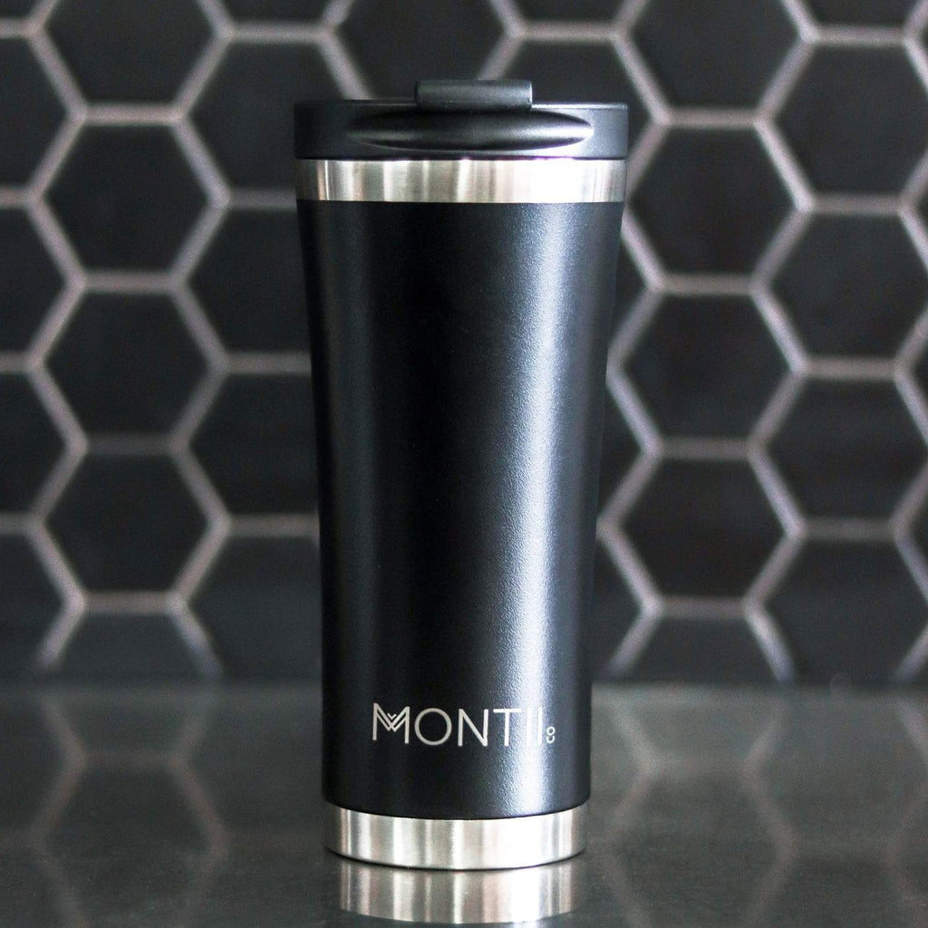 Montii MEGA Coffee Cup ~ NEW  ~ BLACK