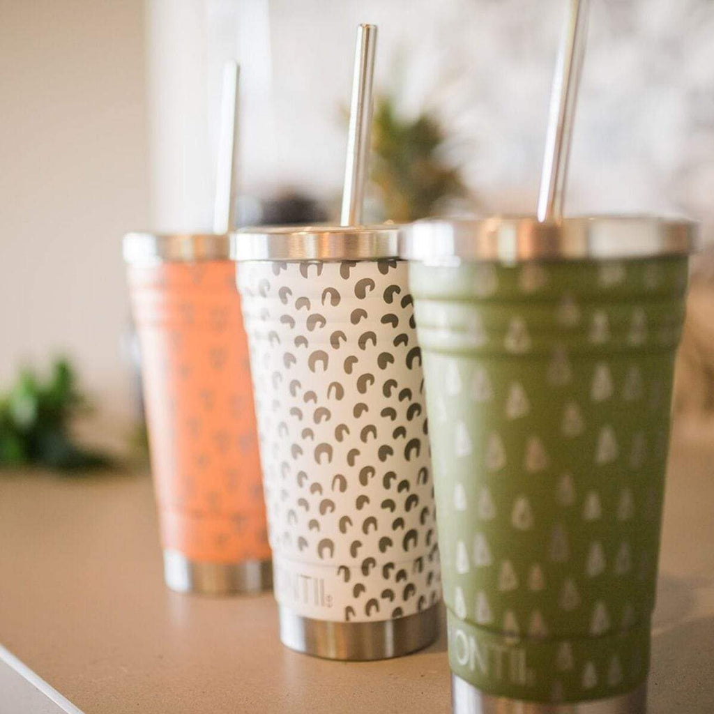 Montii Smoothie Cup ~ Olive Geo Print ( NEW )