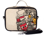 So Young Insulated lunch box -Pixopop Pishi and Friends  - Raw Linen ( NEW)