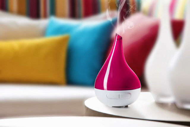 Aroma Bloom Ultrasonic Diffuser - 5-in-1 Vaporiser - Fuscia