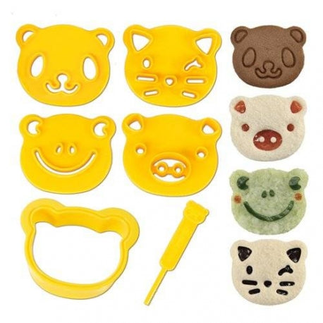 CuteZcute Sandwich Cookie Cutter and Pastry Bread Stamp Kit