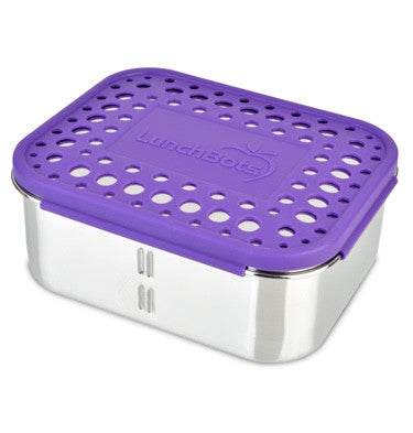 LunchBots Deep Duo with Purple Dots