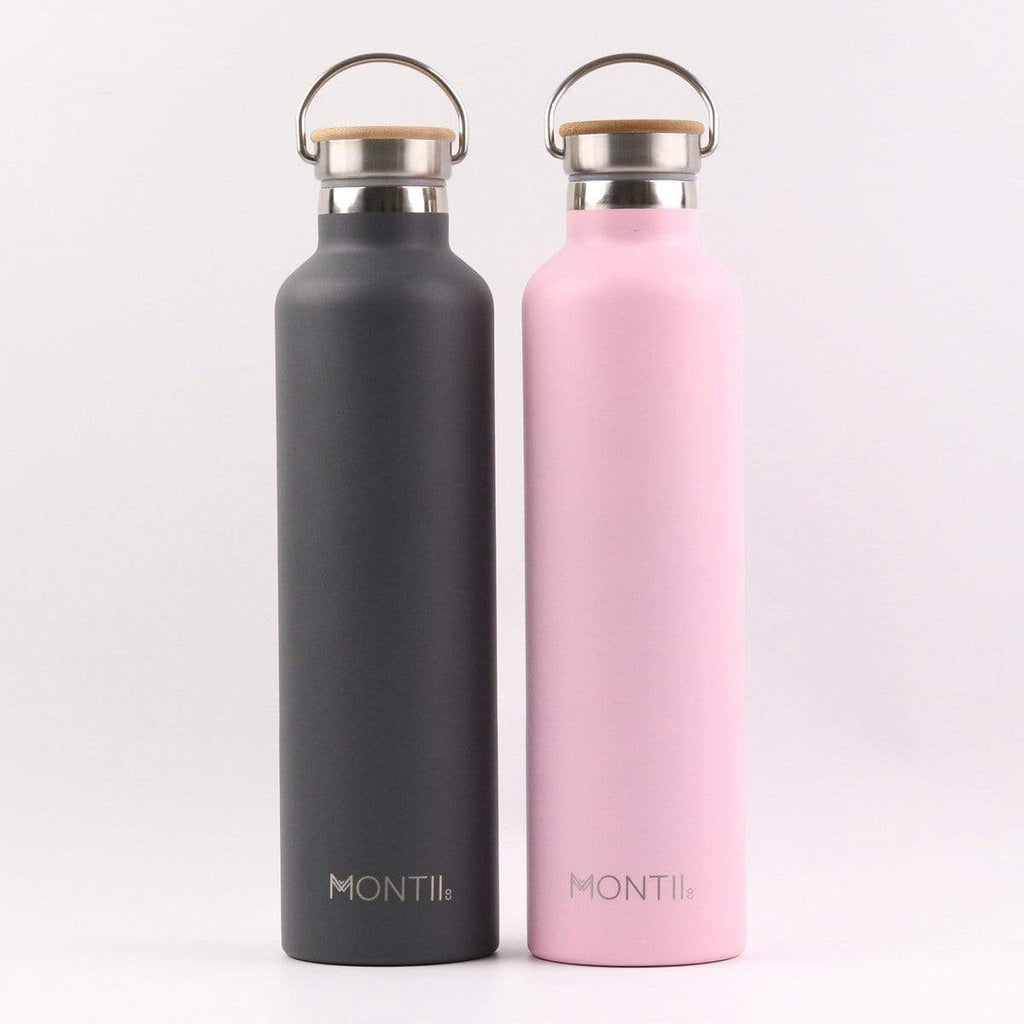 Montii Co Mega Insulated Drink Bottle 1L ~ Dusty Pink