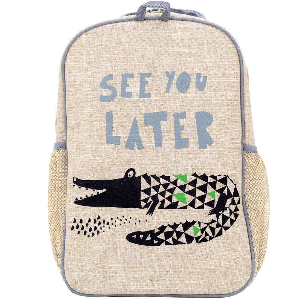 SoYoung Grade School Backpack -WEE GALLERY ALLIGATOR ( NEW )