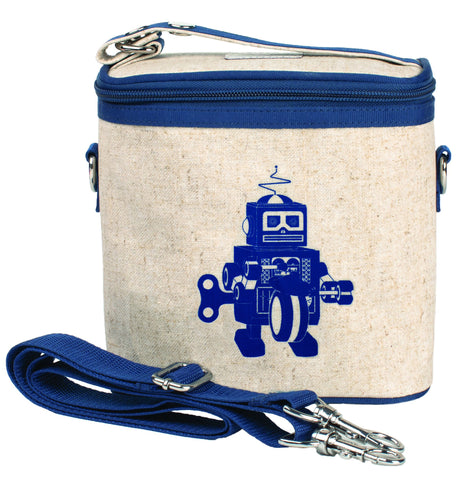 So Young Insulated Cooler Bag Small Blue Robot