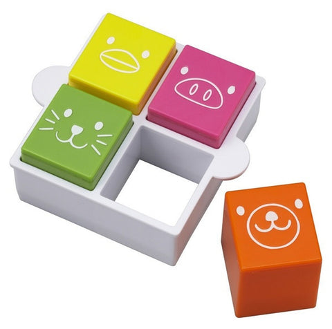Set of 4 Animal Friends Sandwich Stamp & Cutter