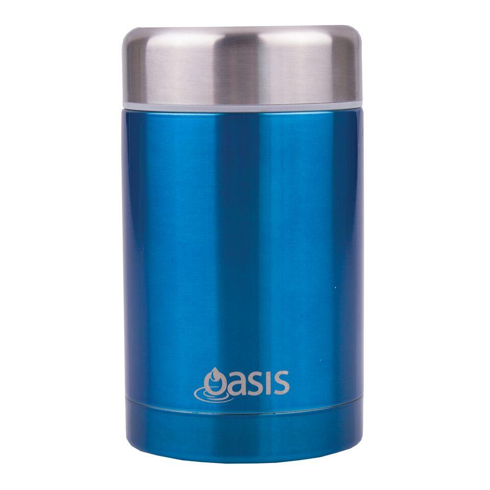 Oasis Stainless Insulated Food Flask - AQUA BLUE 450ml
