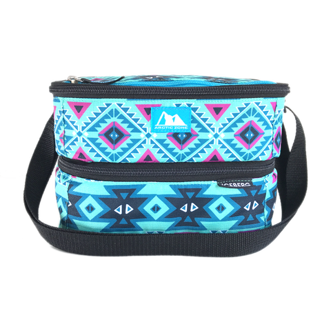 Arctic Zone Dual Compartment Lunch Pack ~ Aztec ( NEW)