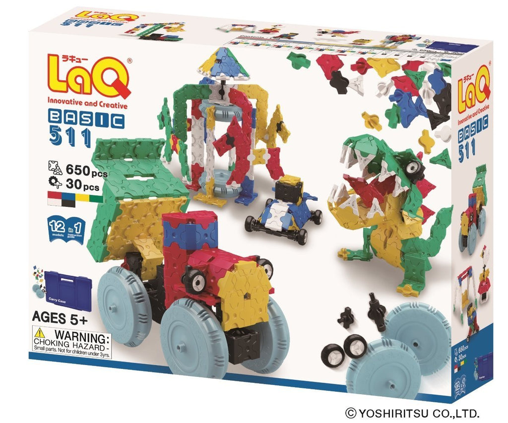 LaQ Basic 511- 12 Models, 650 pcs
