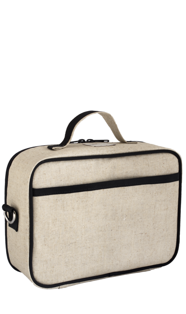 So Young Insulated lunch box - Pixopop Pishi Burger- Raw Linen