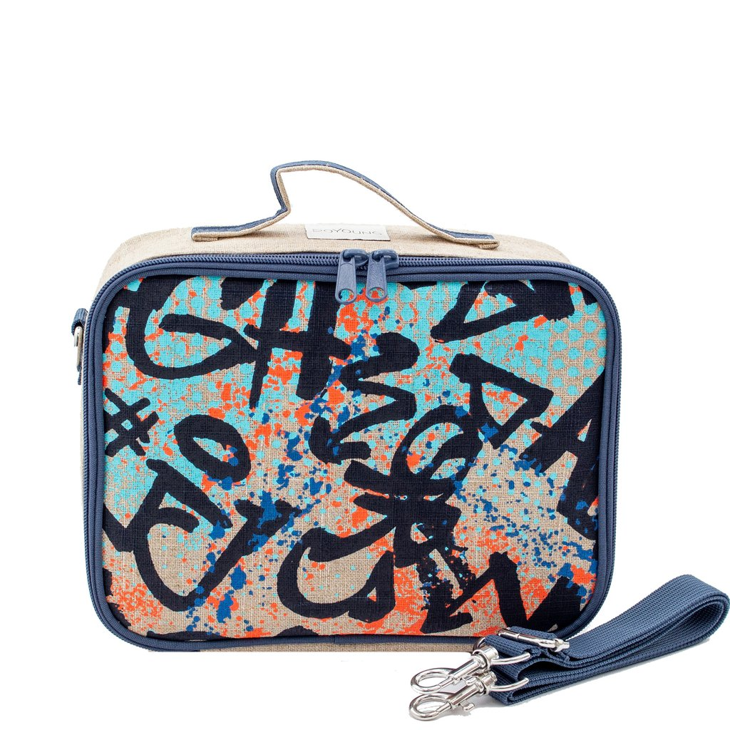 So Young Insulated lunch box -Colourful Graffiti ~ NEW