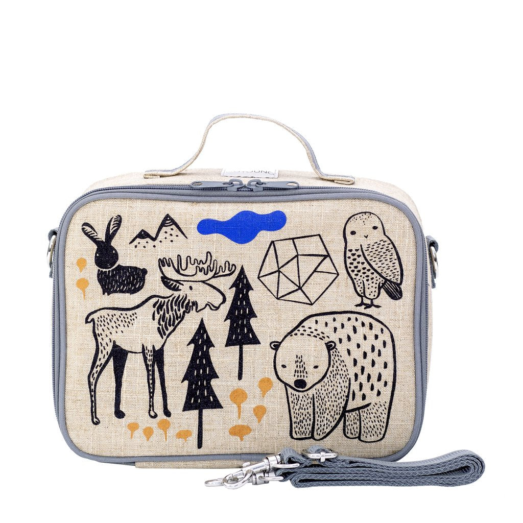 So Young Insulated lunch box -Wee Gallery Nordic - Raw Linen ( NEW)