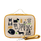 So Young Insulated lunch box -WEE GALLERY PUPS LUNCH BOX ( NEW)