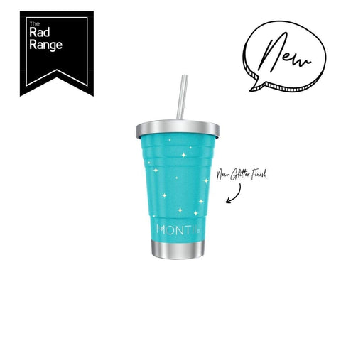 Montii MINI Smoothie Cup ~ Glitter Aqua ( NEW)